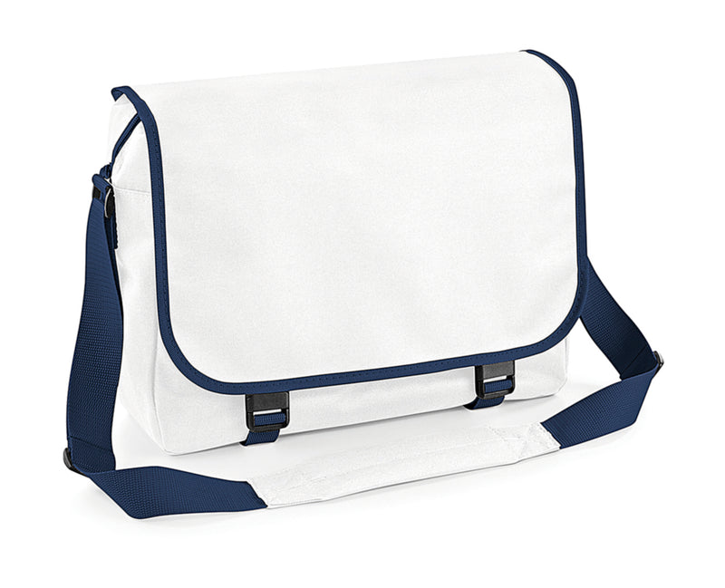 Messenger Bag, White/French Navy - Kant Oberschule