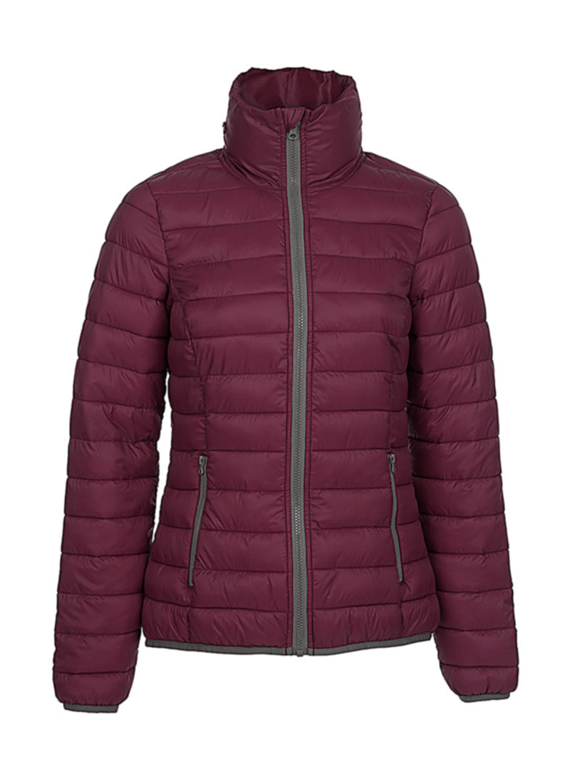 Ladies Active Padded Jacket, Bordeaux - Kant Oberschule