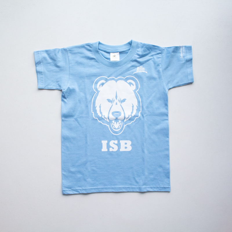 T-Shirt Kids mit Bär - sky blue