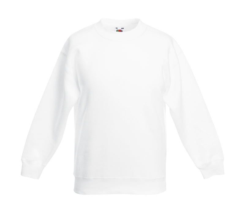 Premium Set-In Sweat Kids, White - Kant Kindergarten