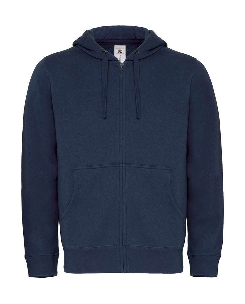 Herren Hooded Zip Sweat B&C, Navy - Kant Oberschule