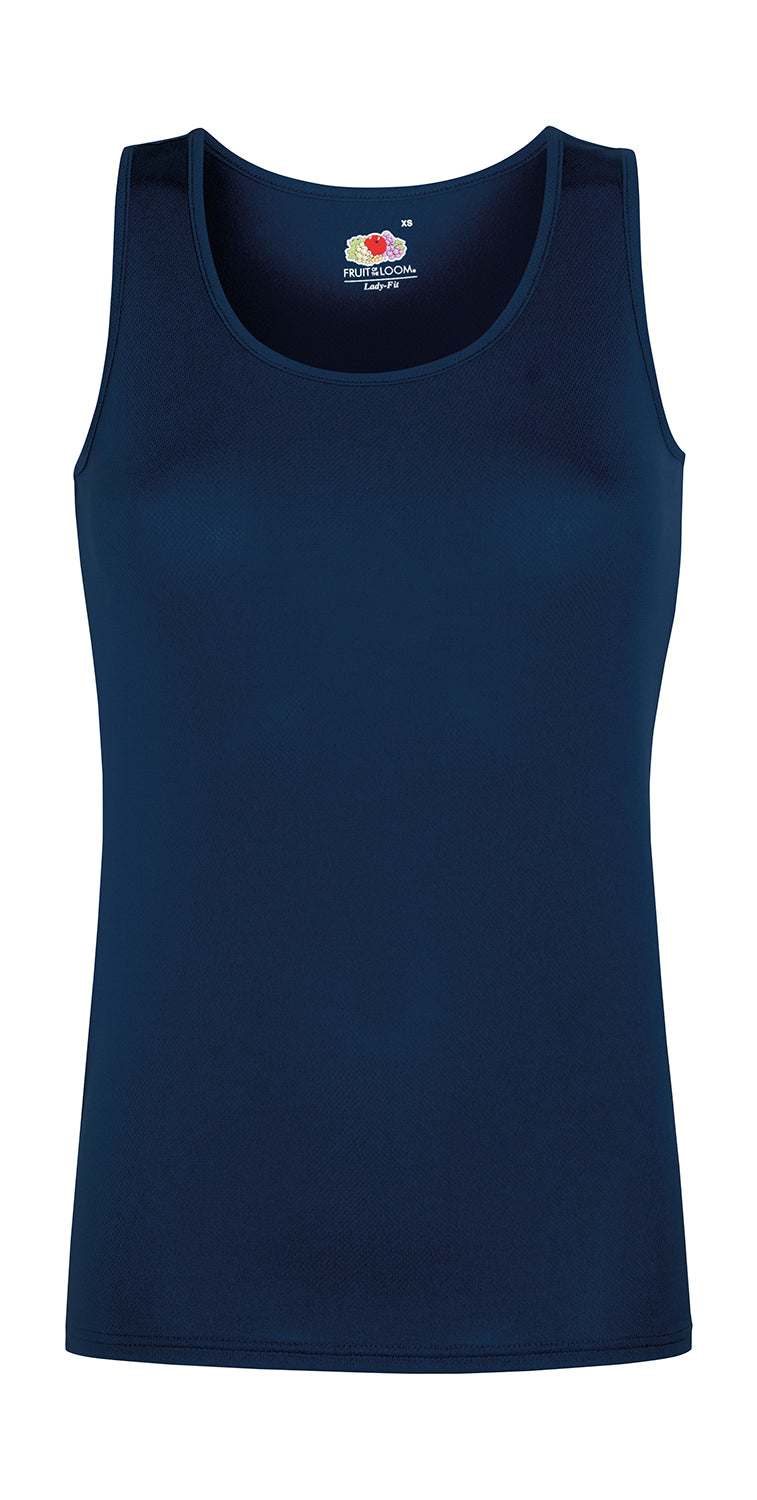 Damen Sport Shirt ohne Arm, Deep Navy - Kant Kindergarten