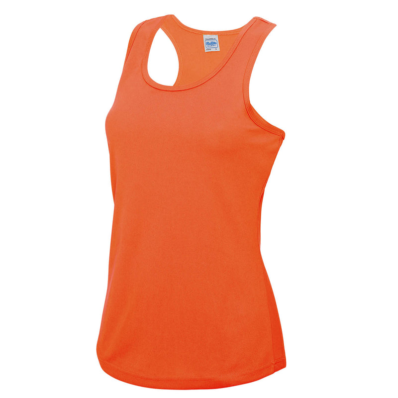 Team Bären Sport Shirt Girls ohne Arm, Electric orange - Kant Grundschule