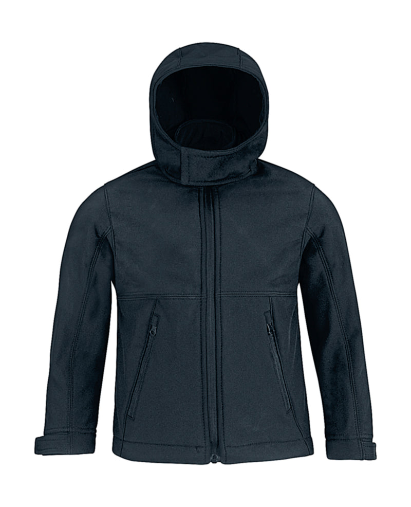 Kids Hooded Softshell Jacke, Navy Blue - Kant Kindergarten