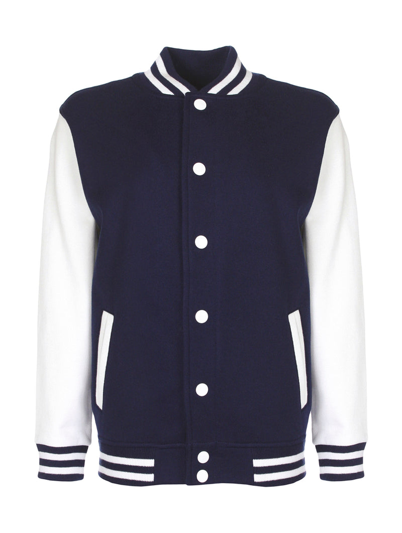 Kids` College Jacket, Navy/White - Kant Oberschule