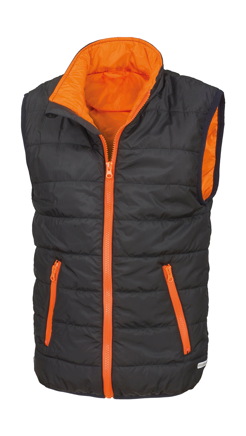 Kids Bodywarmer, Black/Orange - Kant Grundschule