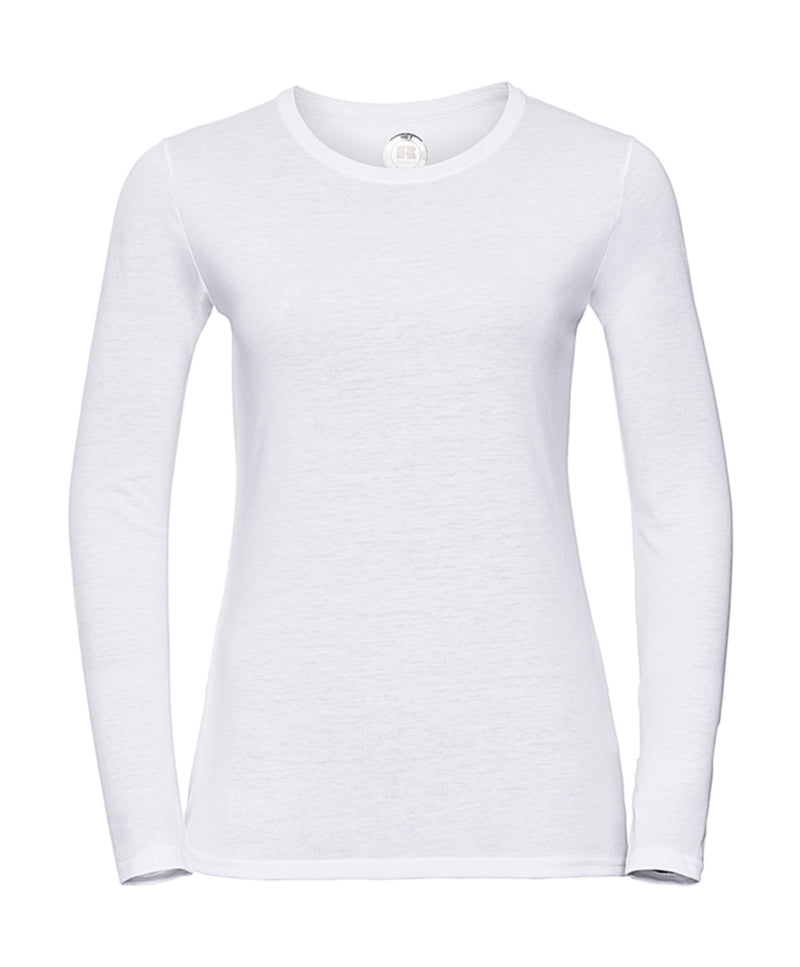 Ladies longsleeve Shirt, White - Kant Kindergarten