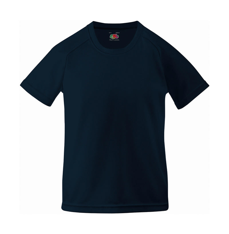 Kids Sport T-Shirt, Deep Navy - Kant Kindergarten