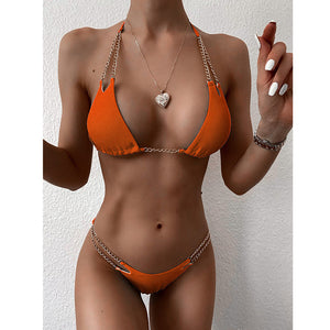 Bikini Women Swimsuit Solid, Push Up Low Waist