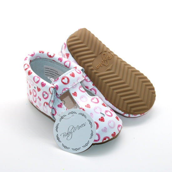 Classic MaryJane T-Bar Moccasin - Hearts
