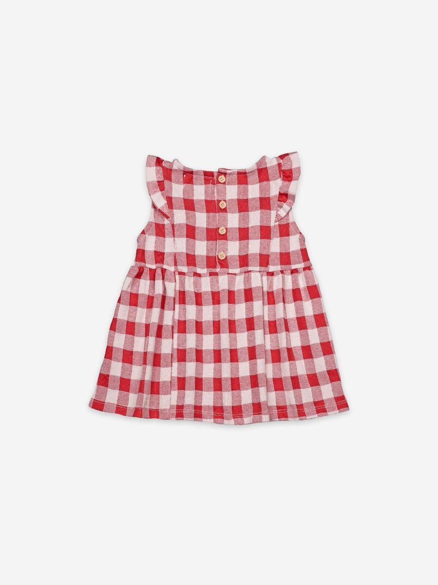 Vichy All Over Ruffle Dress
