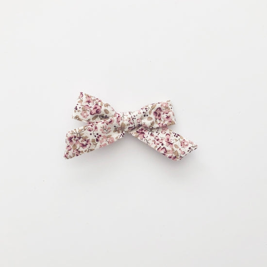 Blush Floral Bow