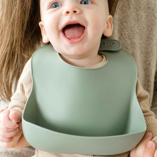 Silicone Baby Bib with Pouch
