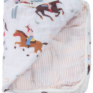 Cowgirl Triple Layer Blanket