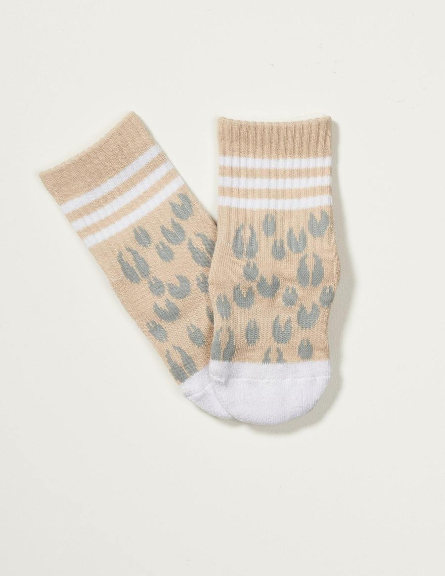 Animal Print Grippy Sock