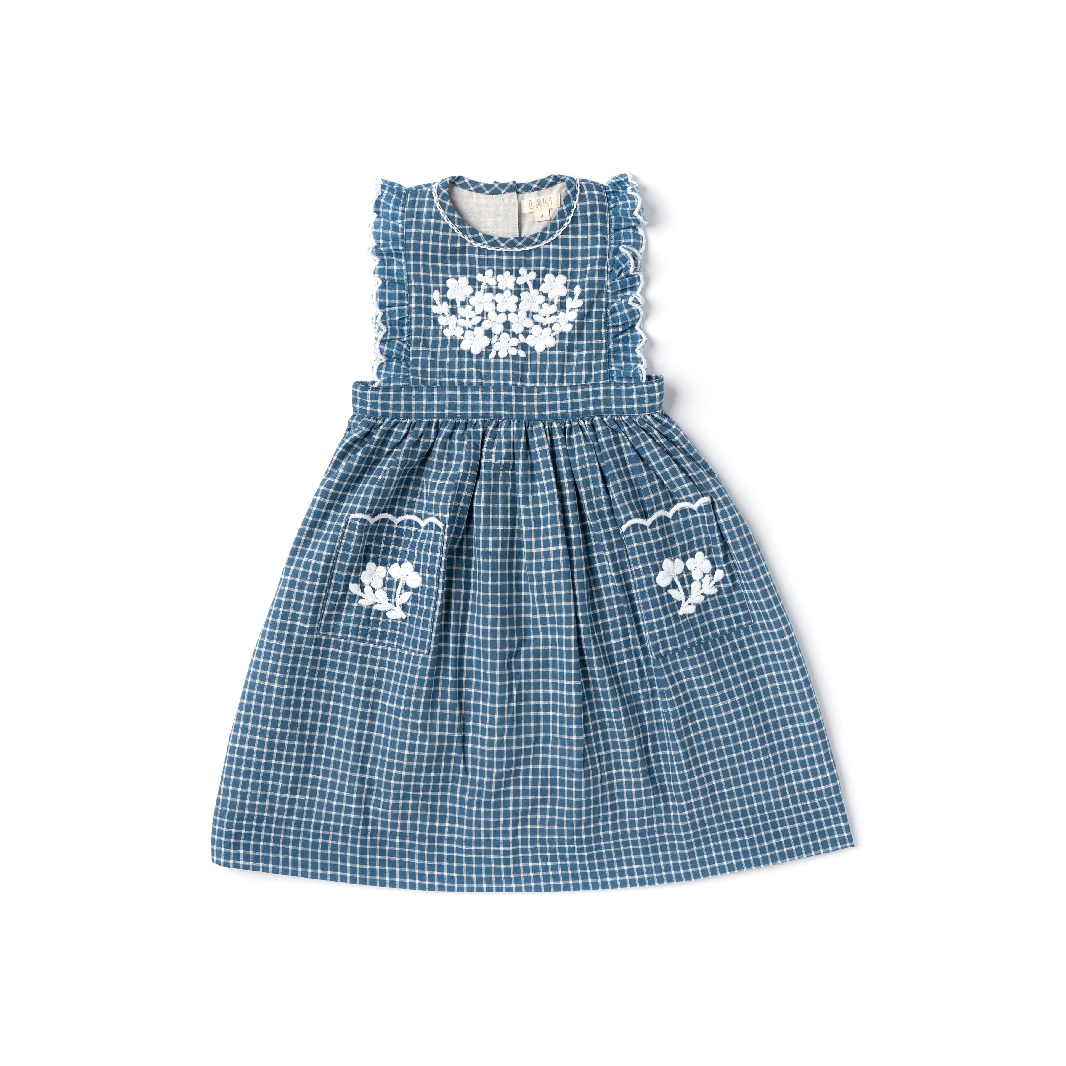 Clover Dress - Blue Chex