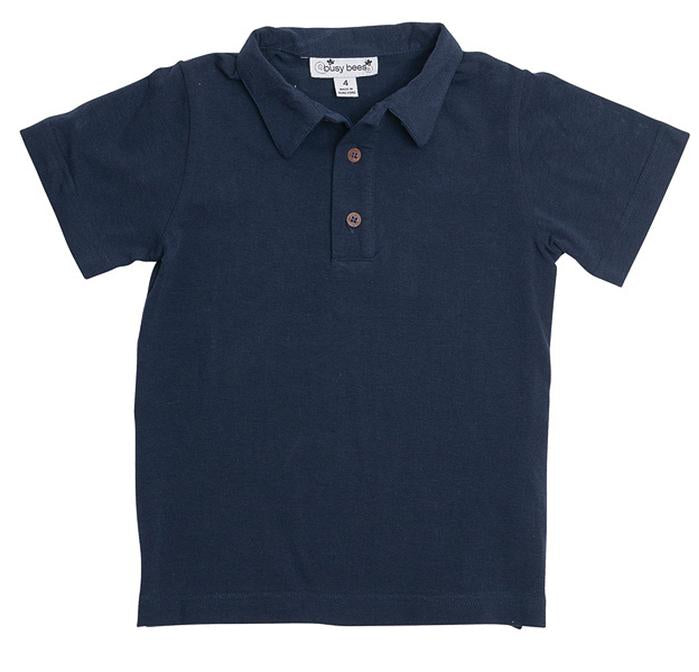 Blue Short Sleeve Polo