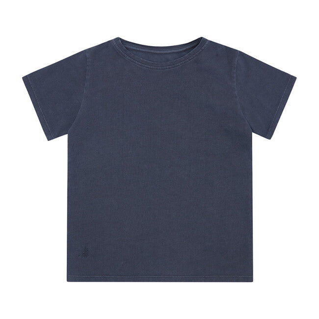Organic Cotton Short Sleeve Shirt - Natural Blue