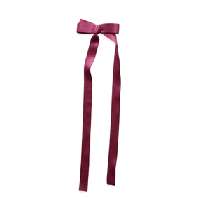 Long Tail Grosgrain Bow - China Rose