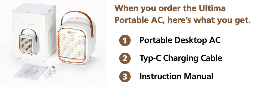 portable mini ac what it includes