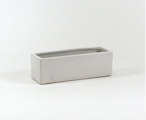 Rectangle White Planter