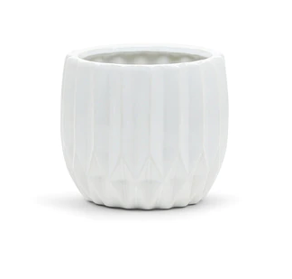 Riveted White Planter