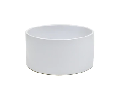 Round Low Bowl Matte White