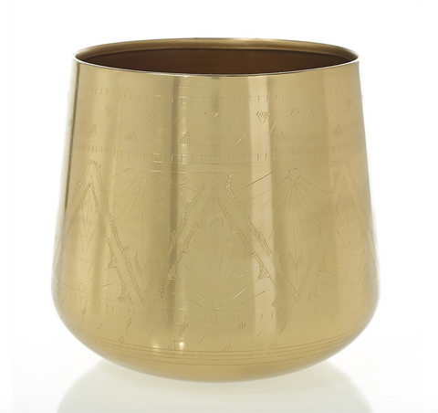Gold Tulum Pot