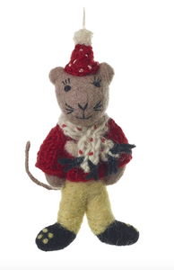 Mouse with Scarf Ornament