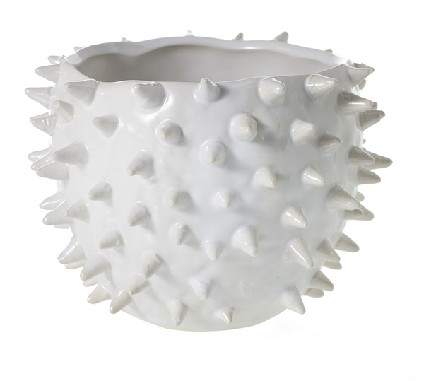 Spiked White Pot