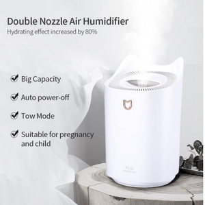 3000ML Home Humidifier with Double Nozzle Aroma Diffuser (FREE 30ML ESSENTIAL OIL)