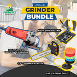 1200W Angle Grinder Machine BUNDLE (Grinder, Polisher, Chainsaw, Grinder Stand)