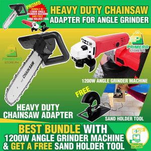 HEAVY DUTY CHAIN SAW ADAPTER FOR GRINDER