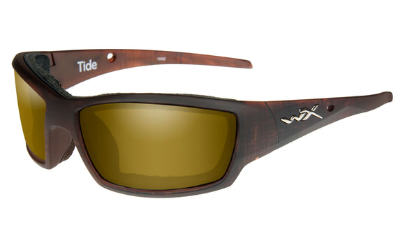 WX TIDE Polarized Venice Gold Mirror (Amber)/Matte Hickory Brown