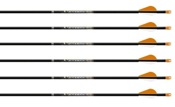 EASTON ARROW 6.5 RTS 500 3'' Bully Vanes Inserts installed 28'' (6PK)