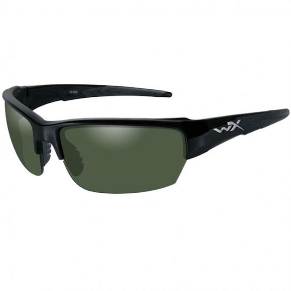 WX P-18 Polarized Smoke Green/Gloss Black