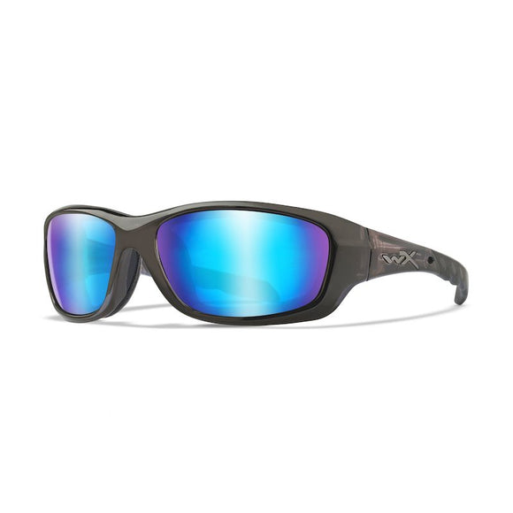 WX GRAVITY Polarized Blue Mirror (Green)/Black Crystal