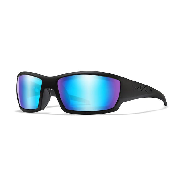 WX TIDE Polarized Blue Mirror (Green)/Matte Black