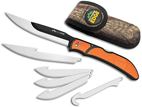 OUTDOOR EDGE RAZOR-BONE (Orange, 6-Blade Combo Set) (EA)