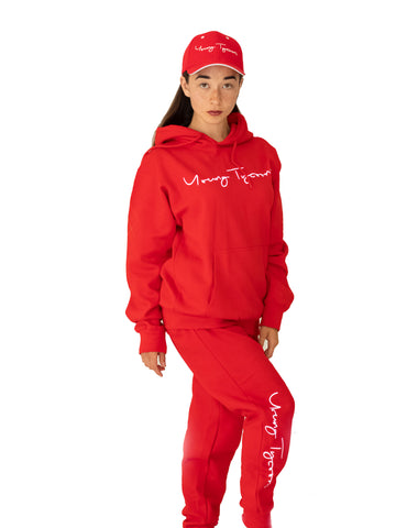Young Tycoons Red Jogger Set