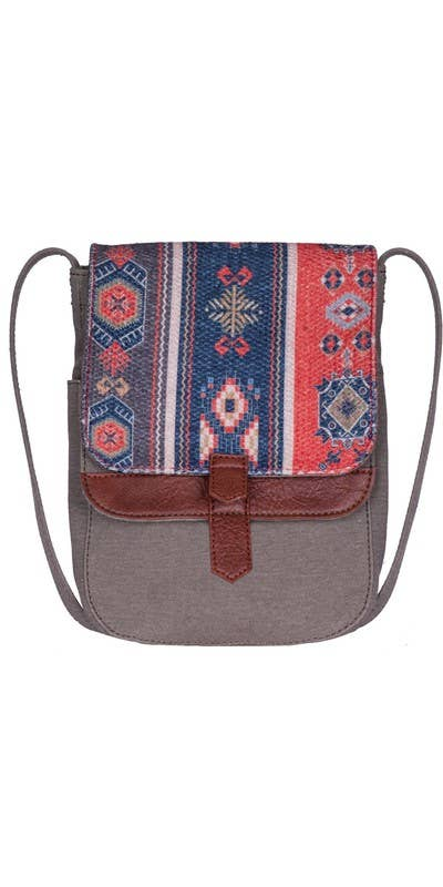 Presley Up-Cycled Canvas and Durrie Crossbody, M-6527