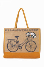 Load image into Gallery viewer, Trust The Journey Burlap Tote