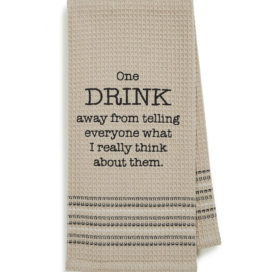 Really Think Dishtowel- Set Of 2, MH-136