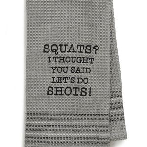 SHOTS? DISHTOWEL- SET OF 2
