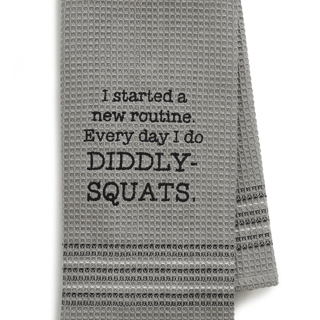 DIDDLY-SQUAT DISHTOWEL- SET OF 2