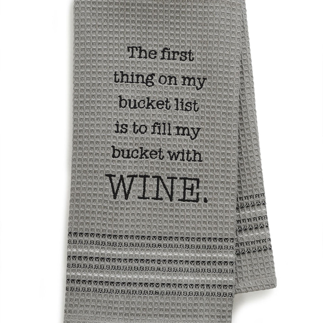 Bucket List Dishtowel- Set Of 2, MH-188