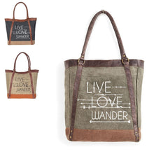 Load image into Gallery viewer, Live Love Wander Tote Charcoal, M-3701