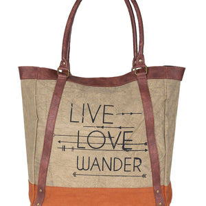 Live Love Wander Tote Charcoal, M-3701