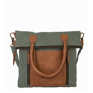 Fold-Over Convertible Tote, M-4014 STONE