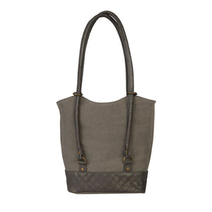 TWO IN ONE CONVERTIBLE TOTE, SMOKE